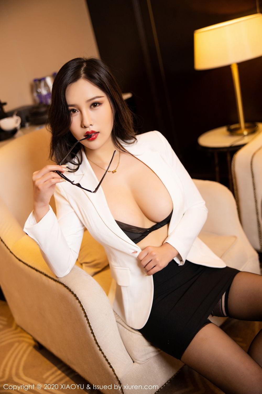 [XiaoYu] Vol.290 Zhou Si Qiao 3P, Black Silk, Tall, Underwear, XiaoYu, Zhou Si Qiao