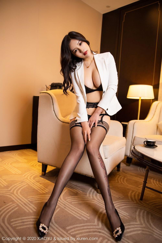 [XiaoYu] Vol.290 Zhou Si Qiao 40P, Black Silk, Tall, Underwear, XiaoYu, Zhou Si Qiao