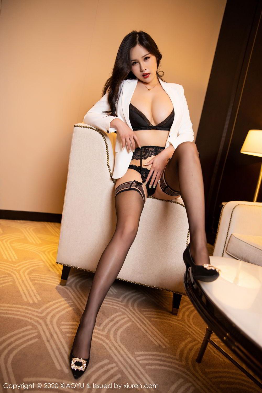 [XiaoYu] Vol.290 Zhou Si Qiao 41P, Black Silk, Tall, Underwear, XiaoYu, Zhou Si Qiao