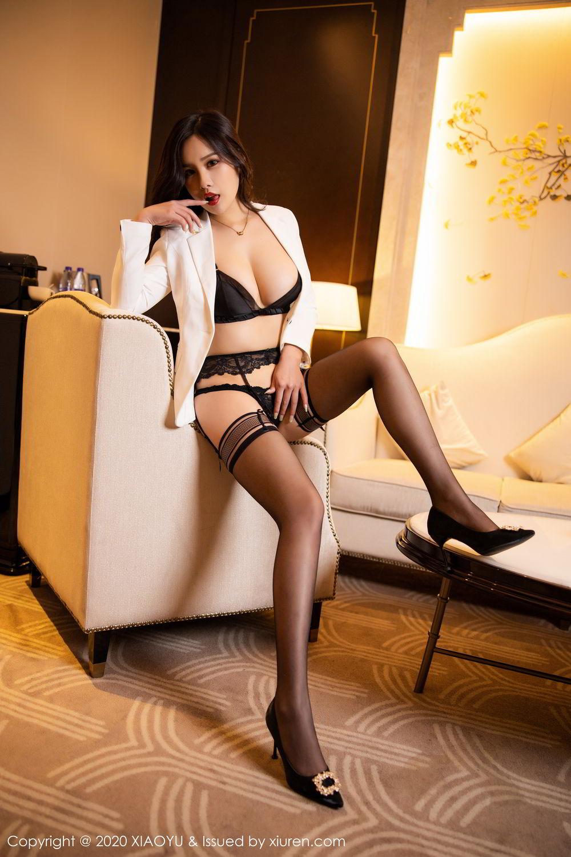 [XiaoYu] Vol.290 Zhou Si Qiao 42P, Black Silk, Tall, Underwear, XiaoYu, Zhou Si Qiao