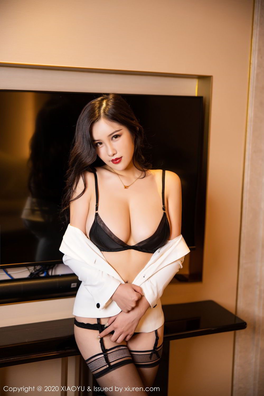 [XiaoYu] Vol.290 Zhou Si Qiao 44P, Black Silk, Tall, Underwear, XiaoYu, Zhou Si Qiao
