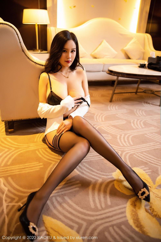 [XiaoYu] Vol.290 Zhou Si Qiao 51P, Black Silk, Tall, Underwear, XiaoYu, Zhou Si Qiao