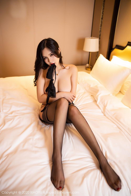 [XiaoYu] Vol.290 Zhou Si Qiao 5P, Black Silk, Tall, Underwear, XiaoYu, Zhou Si Qiao