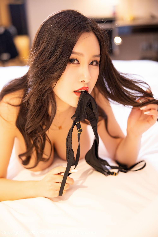 [XiaoYu] Vol.290 Zhou Si Qiao 65P, Black Silk, Tall, Underwear, XiaoYu, Zhou Si Qiao