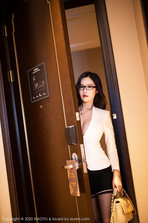 [XiaoYu] Vol.290 Zhou Si Qiao 6P, Black Silk, Tall, Underwear, XiaoYu, Zhou Si Qiao