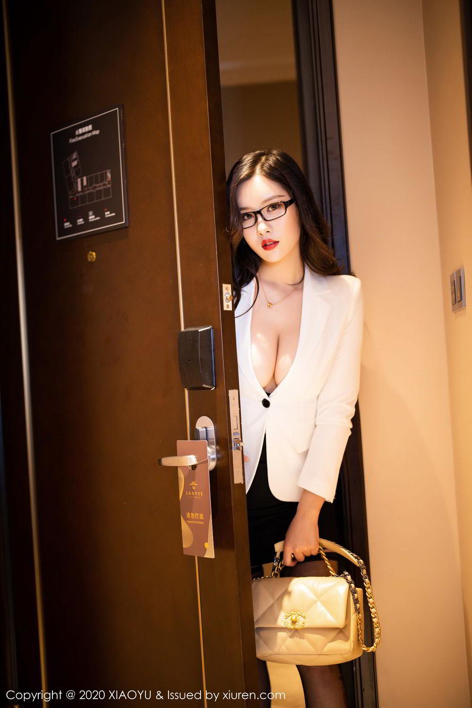 [XiaoYu] Vol.290 Zhou Si Qiao 7P, Black Silk, Tall, Underwear, XiaoYu, Zhou Si Qiao