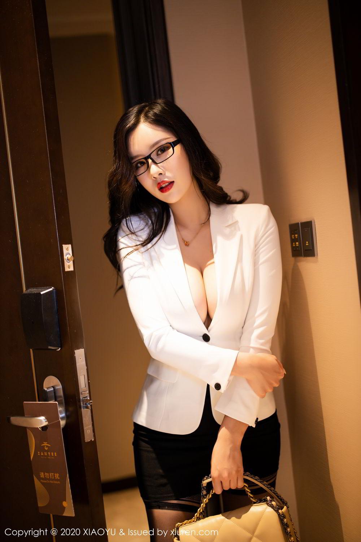 [XiaoYu] Vol.290 Zhou Si Qiao 8P, Black Silk, Tall, Underwear, XiaoYu, Zhou Si Qiao