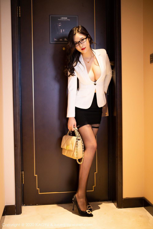 [XiaoYu] Vol.290 Zhou Si Qiao 9P, Black Silk, Tall, Underwear, XiaoYu, Zhou Si Qiao