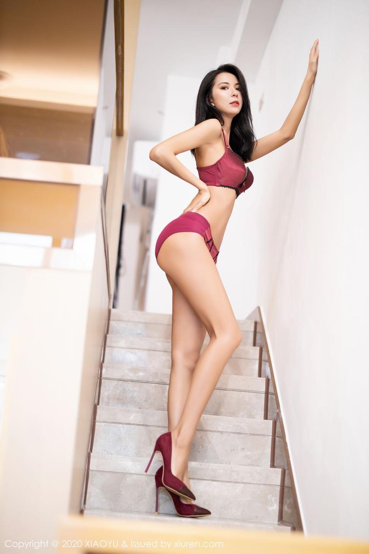 [XiaoYu] Vol.294 Carry 4P, Chen Liang Ling, Cheongsam, Tall, Temperament, Underwear, XiaoYu