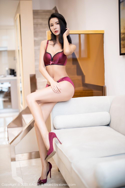 [XiaoYu] Vol.294 Carry 5P, Chen Liang Ling, Cheongsam, Tall, Temperament, Underwear, XiaoYu