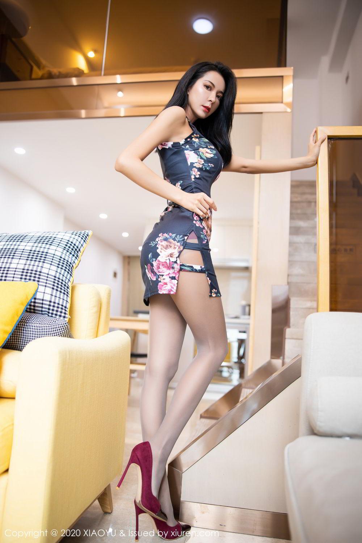 [XiaoYu] Vol.294 Carry 9P, Chen Liang Ling, Cheongsam, Tall, Temperament, Underwear, XiaoYu