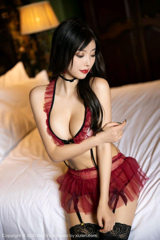 [XiaoYu] Vol.296 Yang Chen Chen 26P, Black Silk, Tall, Underwear, XiaoYu, Yang Chen Chen