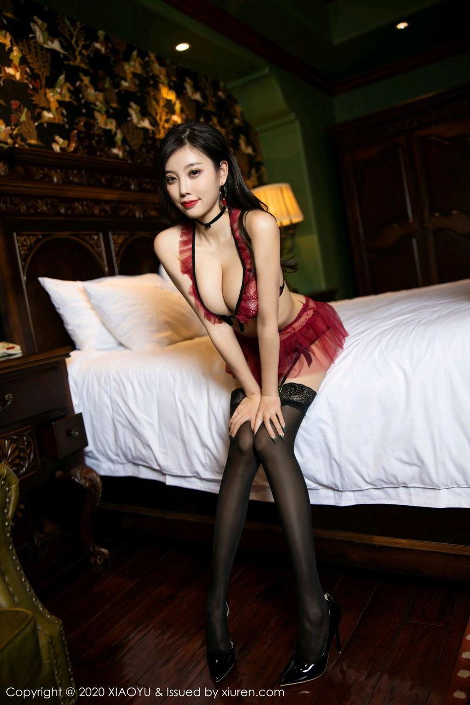 [XiaoYu] Vol.296 Yang Chen Chen 28P, Black Silk, Tall, Underwear, XiaoYu, Yang Chen Chen