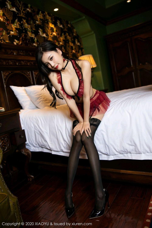 [XiaoYu] Vol.296 Yang Chen Chen 29P, Black Silk, Tall, Underwear, XiaoYu, Yang Chen Chen