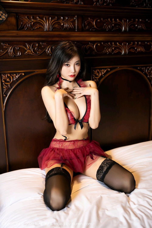 [XiaoYu] Vol.296 Yang Chen Chen 35P, Black Silk, Tall, Underwear, XiaoYu, Yang Chen Chen