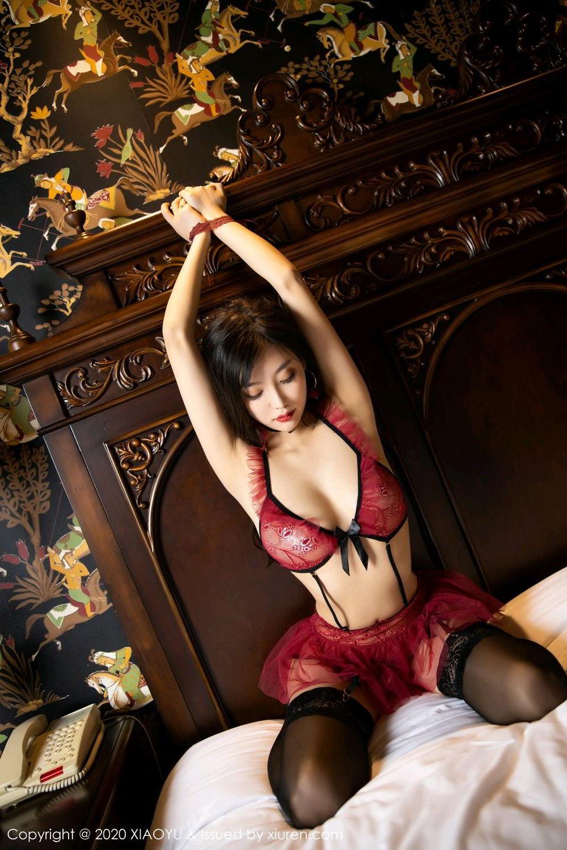 [XiaoYu] Vol.296 Yang Chen Chen 41P, Black Silk, Tall, Underwear, XiaoYu, Yang Chen Chen