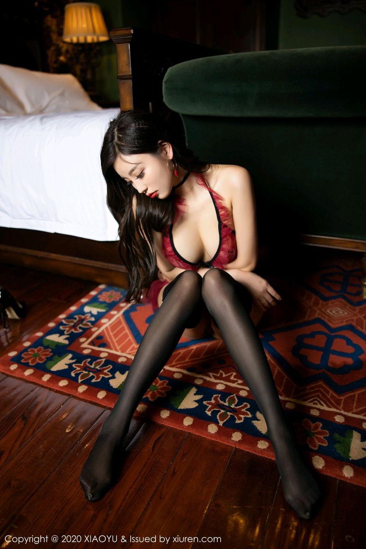 [XiaoYu] Vol.296 Yang Chen Chen 66P, Black Silk, Tall, Underwear, XiaoYu, Yang Chen Chen