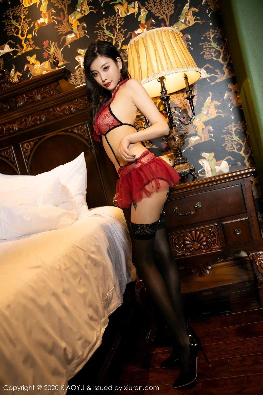 [XiaoYu] Vol.296 Yang Chen Chen 8P, Black Silk, Tall, Underwear, XiaoYu, Yang Chen Chen