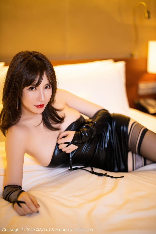 [XiaoYu] Vol.297 Xia Xiao Wei 44P, Black Silk, Tall, Xia Xi Zi, XiaoYu