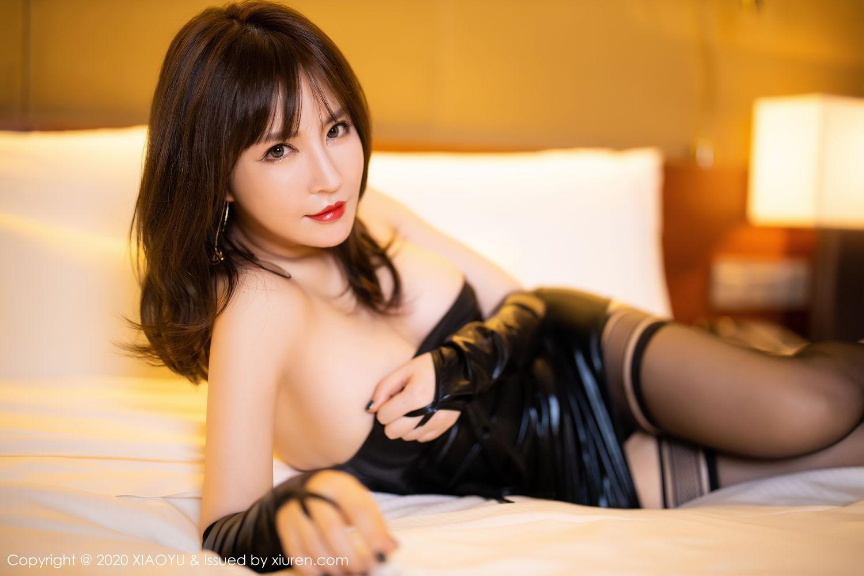 [XiaoYu] Vol.297 Xia Xiao Wei 47P, Black Silk, Tall, Xia Xi Zi, XiaoYu