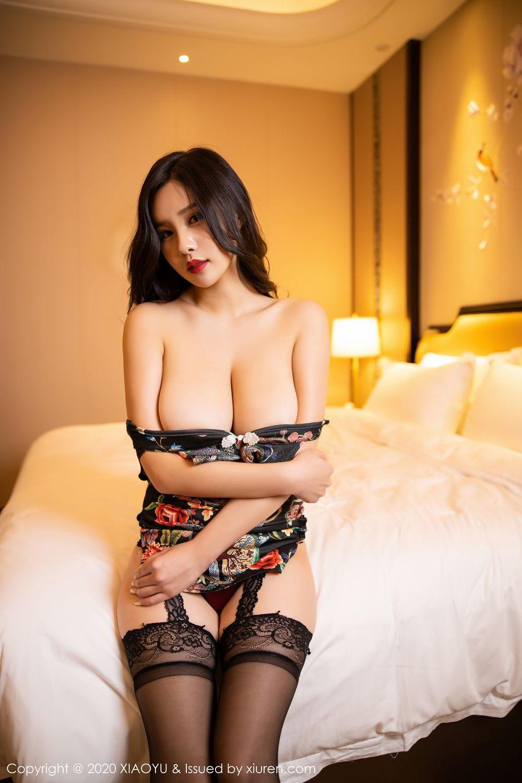 [XiaoYu] Vol.299 Zhou Si Qiao 25P, Adult, Black Silk, Cheongsam, XiaoYu, Zhou Si Qiao