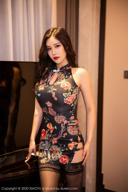 [XiaoYu] Vol.299 Zhou Si Qiao 2P, Adult, Black Silk, Cheongsam, XiaoYu, Zhou Si Qiao