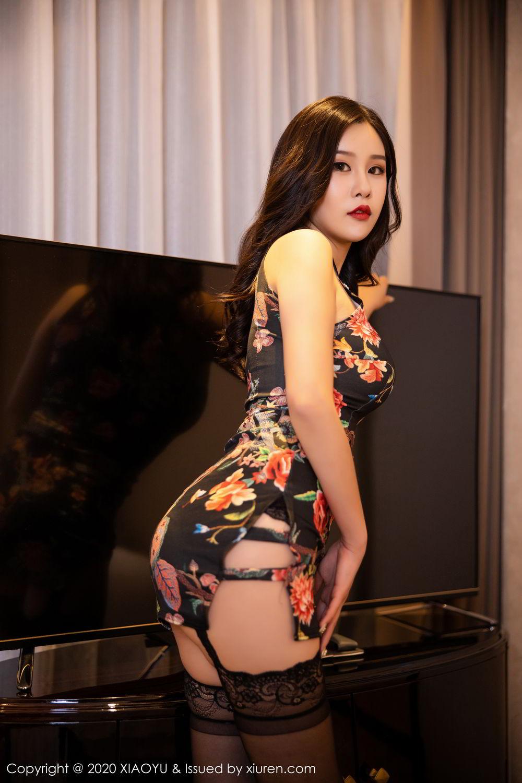 [XiaoYu] Vol.299 Zhou Si Qiao 6P, Adult, Black Silk, Cheongsam, XiaoYu, Zhou Si Qiao