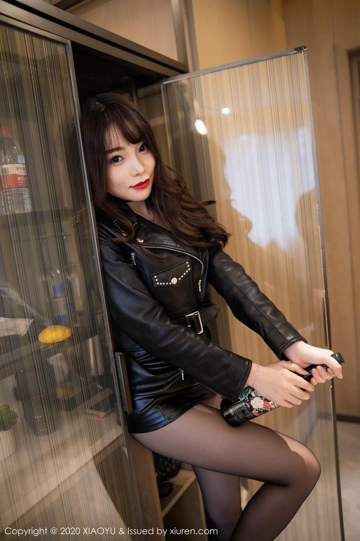 [XiaoYu] Vol.301 Zhi Zhi Booty 13P, Big Booty, Black Silk, Chen Zhi, XiaoYu