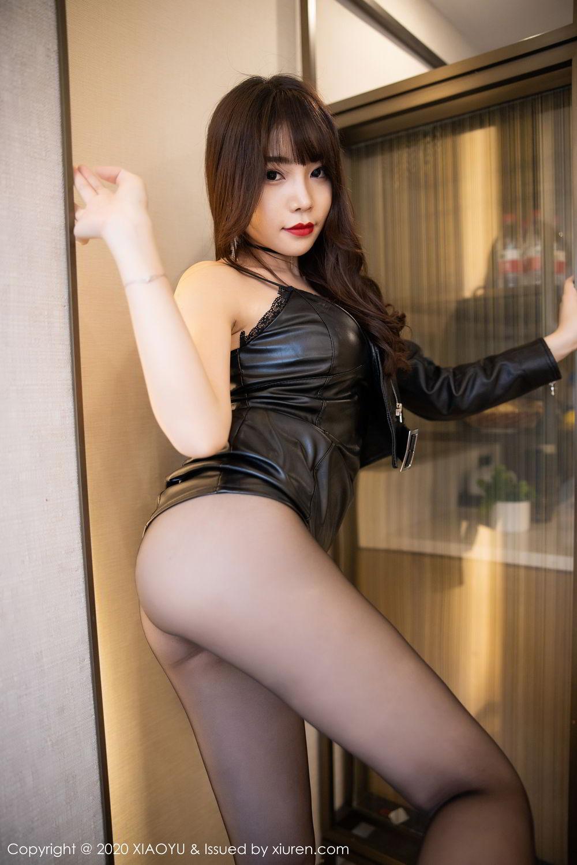 [XiaoYu] Vol.301 Zhi Zhi Booty 23P, Big Booty, Black Silk, Chen Zhi, XiaoYu