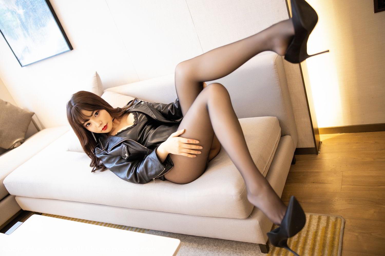 [XiaoYu] Vol.301 Zhi Zhi Booty 28P, Big Booty, Black Silk, Chen Zhi, XiaoYu