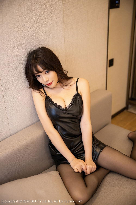 [XiaoYu] Vol.301 Zhi Zhi Booty 43P, Big Booty, Black Silk, Chen Zhi, XiaoYu