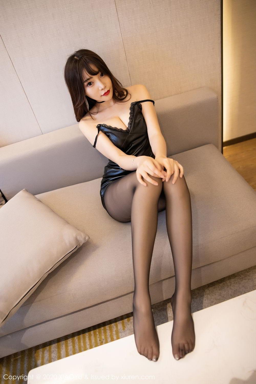 [XiaoYu] Vol.301 Zhi Zhi Booty 47P, Big Booty, Black Silk, Chen Zhi, XiaoYu