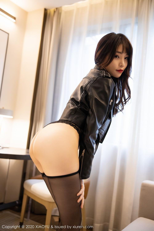 [XiaoYu] Vol.301 Zhi Zhi Booty 4P, Big Booty, Black Silk, Chen Zhi, XiaoYu