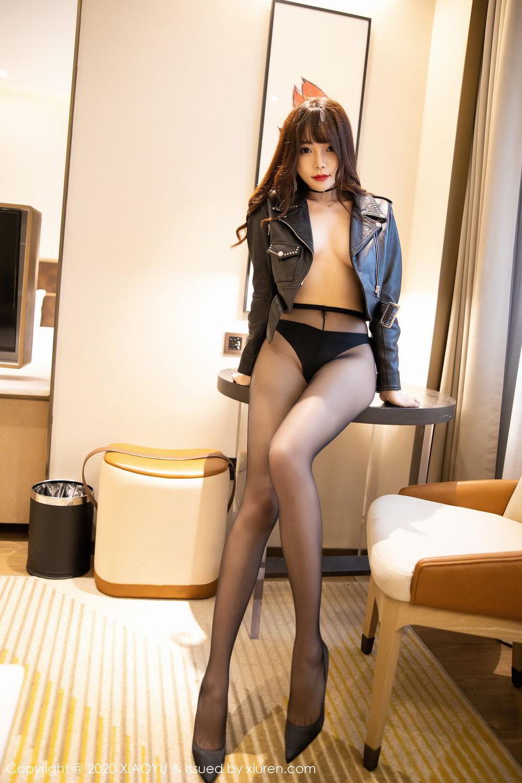[XiaoYu] Vol.301 Zhi Zhi Booty 50P, Big Booty, Black Silk, Chen Zhi, XiaoYu