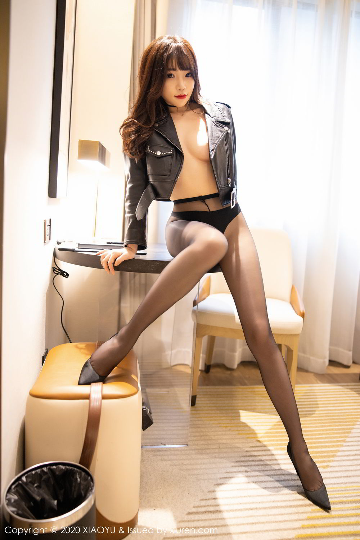 [XiaoYu] Vol.301 Zhi Zhi Booty 54P, Big Booty, Black Silk, Chen Zhi, XiaoYu