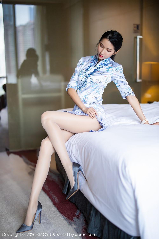 [XiaoYu] Vol.304 Carry 2P, Chen Liang Ling, Cheongsam, Tall, Temperament, Underwear, XiaoYu