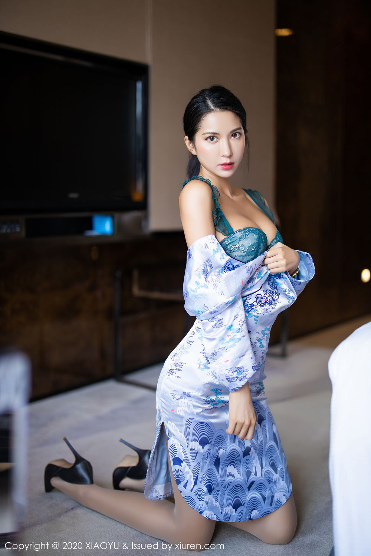 [XiaoYu] Vol.304 Carry 33P, Chen Liang Ling, Cheongsam, Tall, Temperament, Underwear, XiaoYu