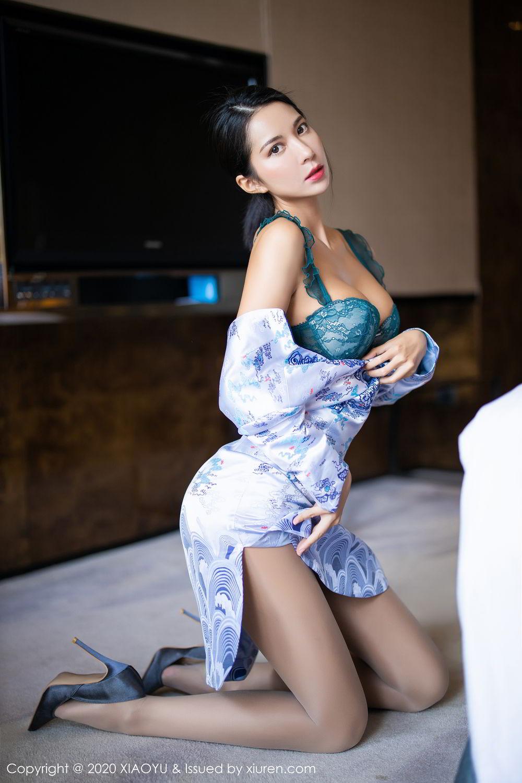 [XiaoYu] Vol.304 Carry 34P, Chen Liang Ling, Cheongsam, Tall, Temperament, Underwear, XiaoYu