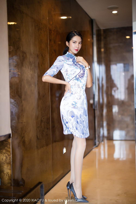 [XiaoYu] Vol.304 Carry 6P, Chen Liang Ling, Cheongsam, Tall, Temperament, Underwear, XiaoYu