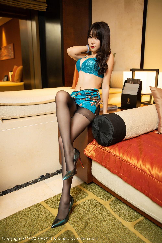 [XiaoYu] Vol.306 Zhi Zhi Booty 29P, Big Booty, Black Silk, Chen Zhi, Cheongsam, Underwear, XiaoYu