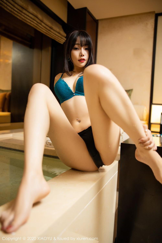 [XiaoYu] Vol.306 Zhi Zhi Booty 4P, Big Booty, Black Silk, Chen Zhi, Cheongsam, Underwear, XiaoYu