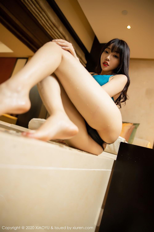 [XiaoYu] Vol.306 Zhi Zhi Booty 57P, Big Booty, Black Silk, Chen Zhi, Cheongsam, Underwear, XiaoYu