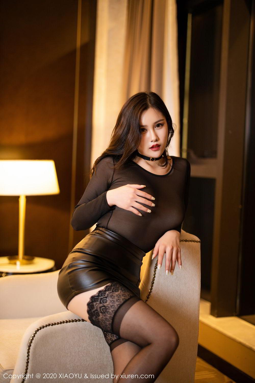 [XiaoYu] Vol.307 Zhou Si Qiao 18P, Black Silk, XiaoYu, Zhou Si Qiao