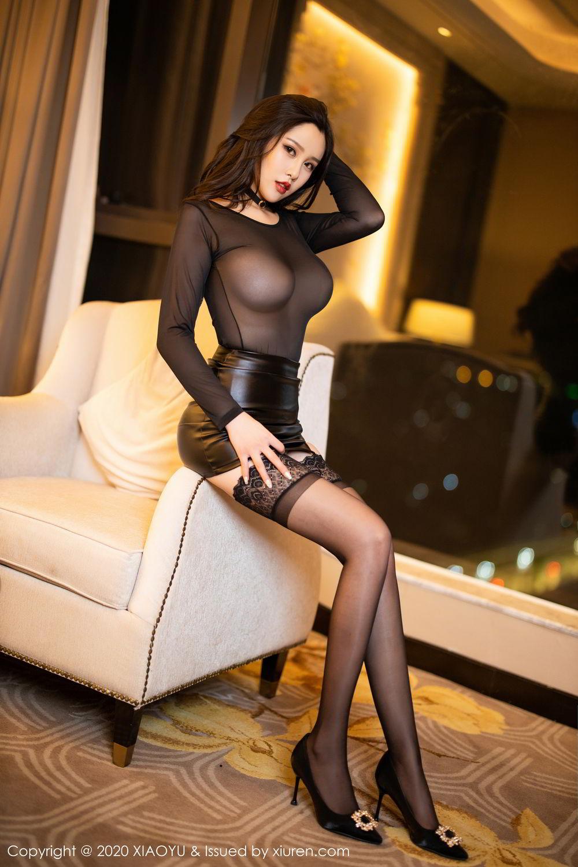 [XiaoYu] Vol.307 Zhou Si Qiao 20P, Black Silk, XiaoYu, Zhou Si Qiao