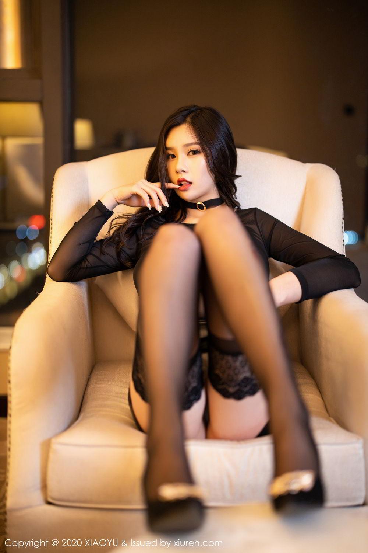 [XiaoYu] Vol.307 Zhou Si Qiao 28P, Black Silk, XiaoYu, Zhou Si Qiao