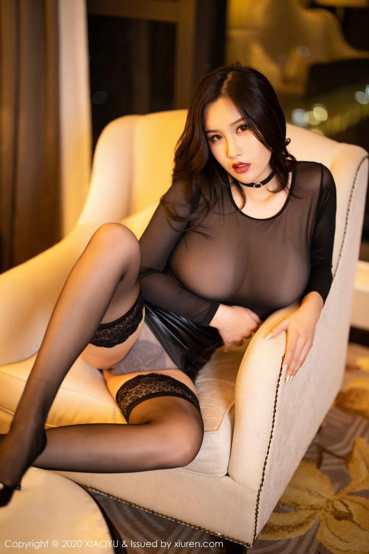 [XiaoYu] Vol.307 Zhou Si Qiao 43P, Black Silk, XiaoYu, Zhou Si Qiao