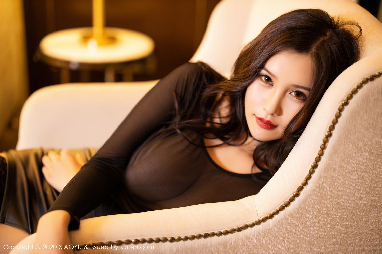 [XiaoYu] Vol.307 Zhou Si Qiao 47P, Black Silk, XiaoYu, Zhou Si Qiao