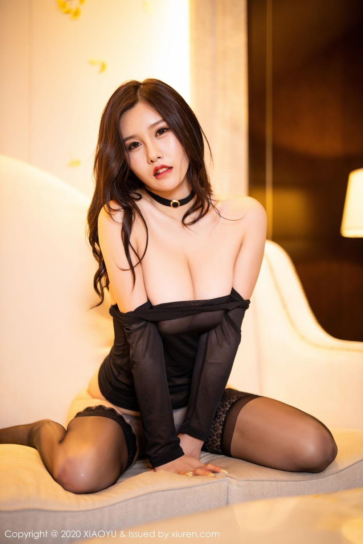 [XiaoYu] Vol.307 Zhou Si Qiao 5P, Black Silk, XiaoYu, Zhou Si Qiao