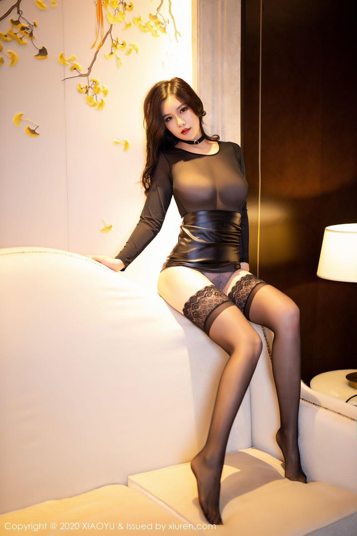 [XiaoYu] Vol.307 Zhou Si Qiao 64P, Black Silk, XiaoYu, Zhou Si Qiao