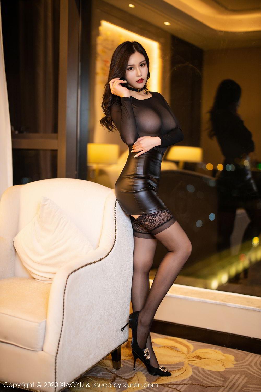 [XiaoYu] Vol.307 Zhou Si Qiao 6P, Black Silk, XiaoYu, Zhou Si Qiao